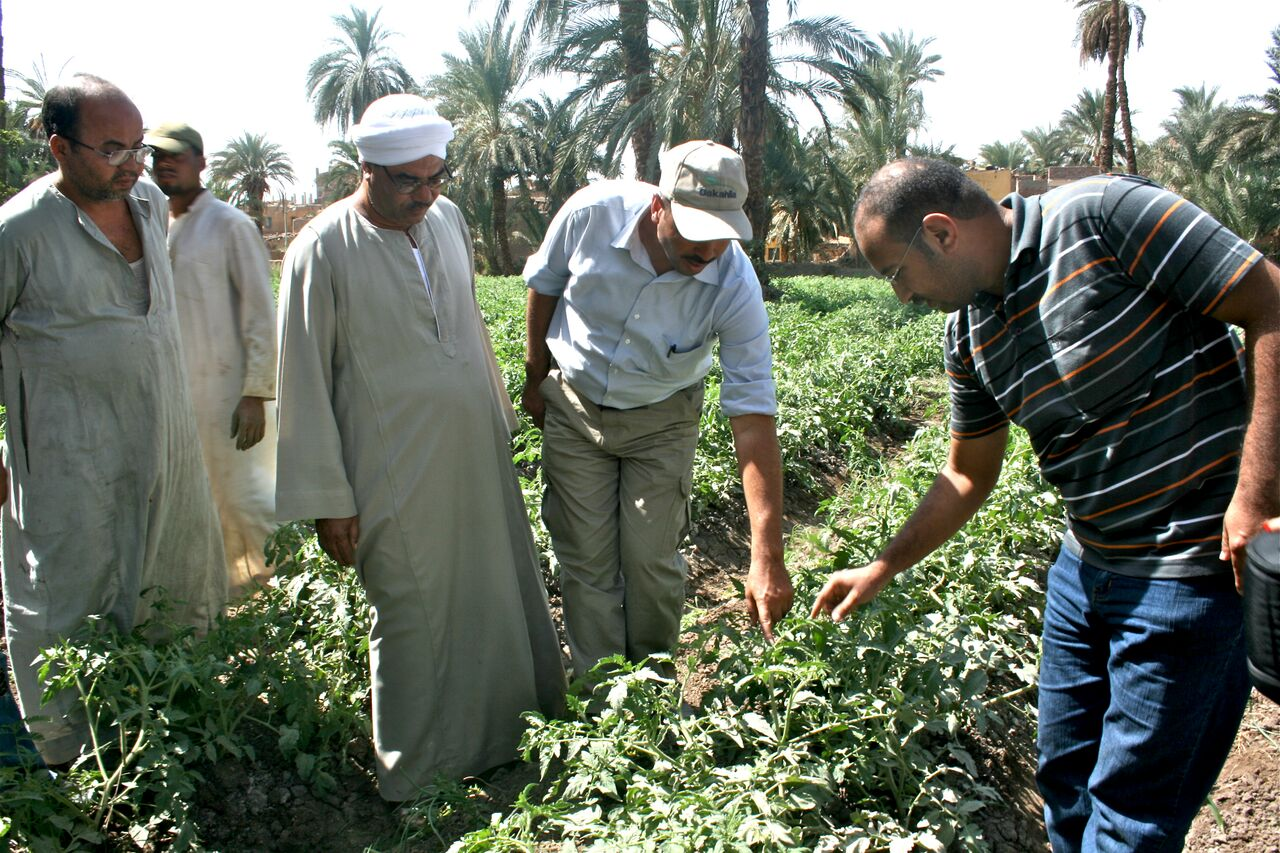 Una clase sobre riego de cultivos del programa
