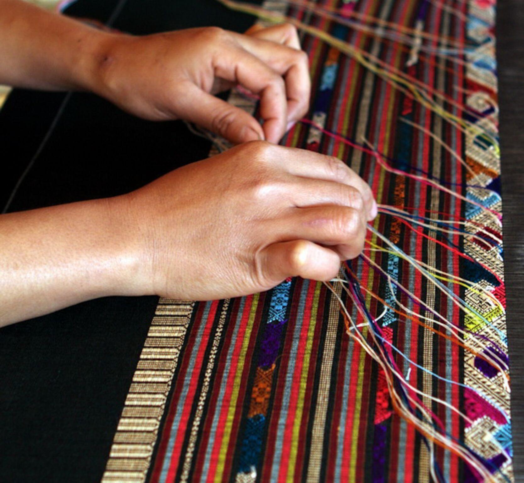 Textile weaving in Ouy Chau