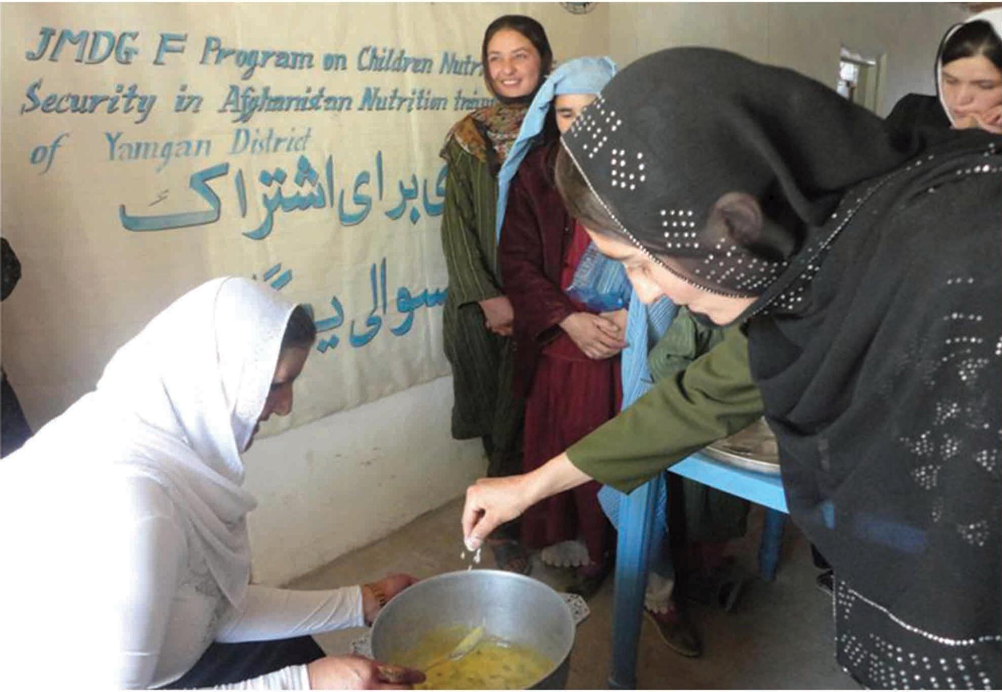 Taller de formación en nutrición sobre el distrito de Yamgan