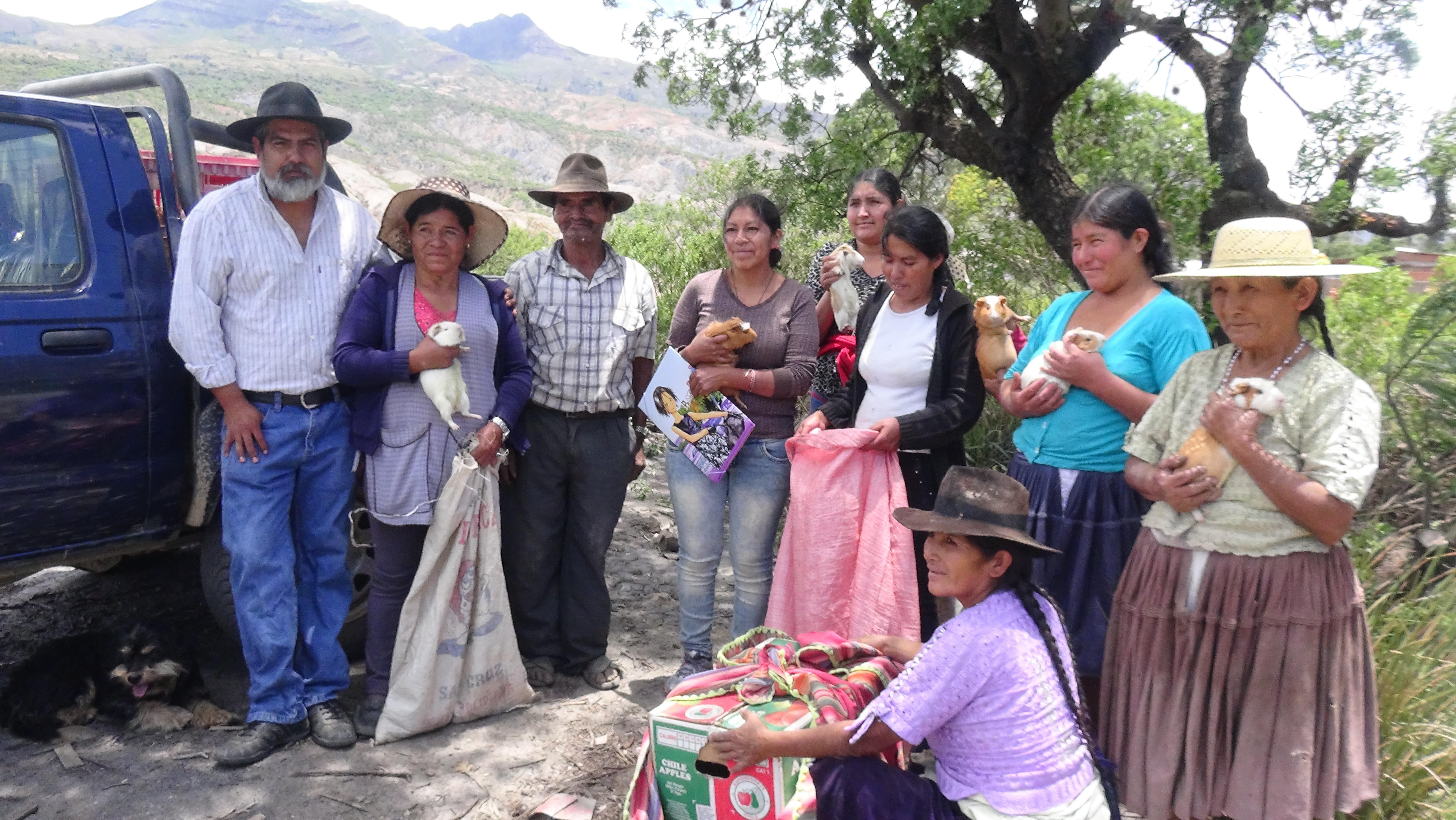 Las familias beneficiarias recibieron huertas organizadas con un amplio abanico de semillas y animales para consumo