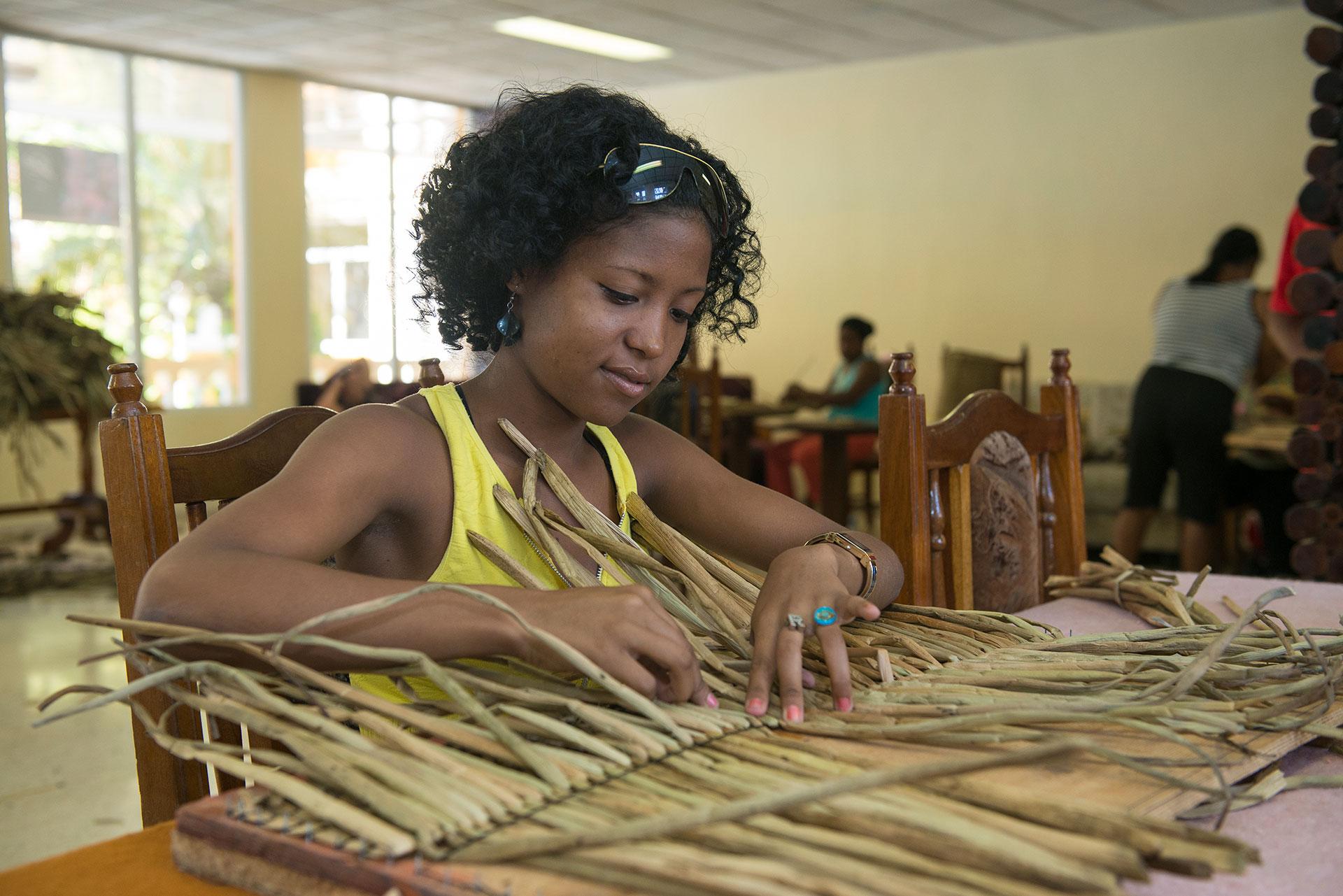 La diversificación de materias primas en la producción de artesanías fue un acierto para mejorar los servicios del sector privado