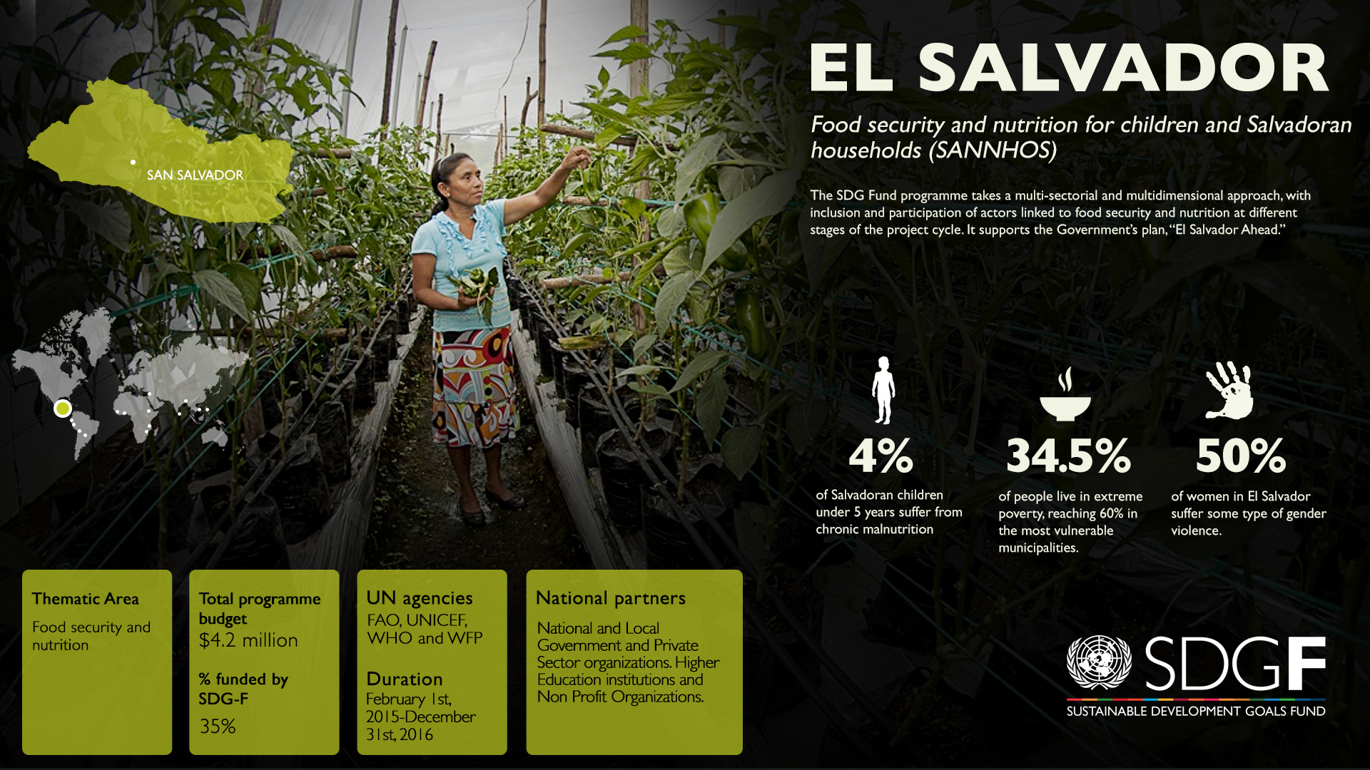 Food Security And Nutrition For Children And Salvadoran