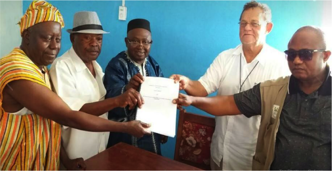 Sogning of Community Development Agreement with extractive industry in Koidu town, committing 0.25% of the mining company's total export earnings to community development