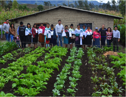 With support from the joint programme, rural families participate in training on implementation of agrodiversity plots to improve food and nutrition security