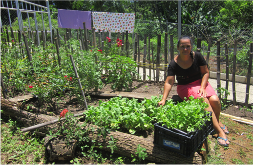 Maria improved the diet of her children by learning how to grow vegetables and fruits in her garden