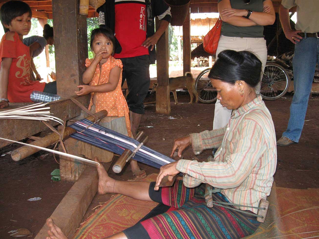 Textile weaver in Ratanakiri