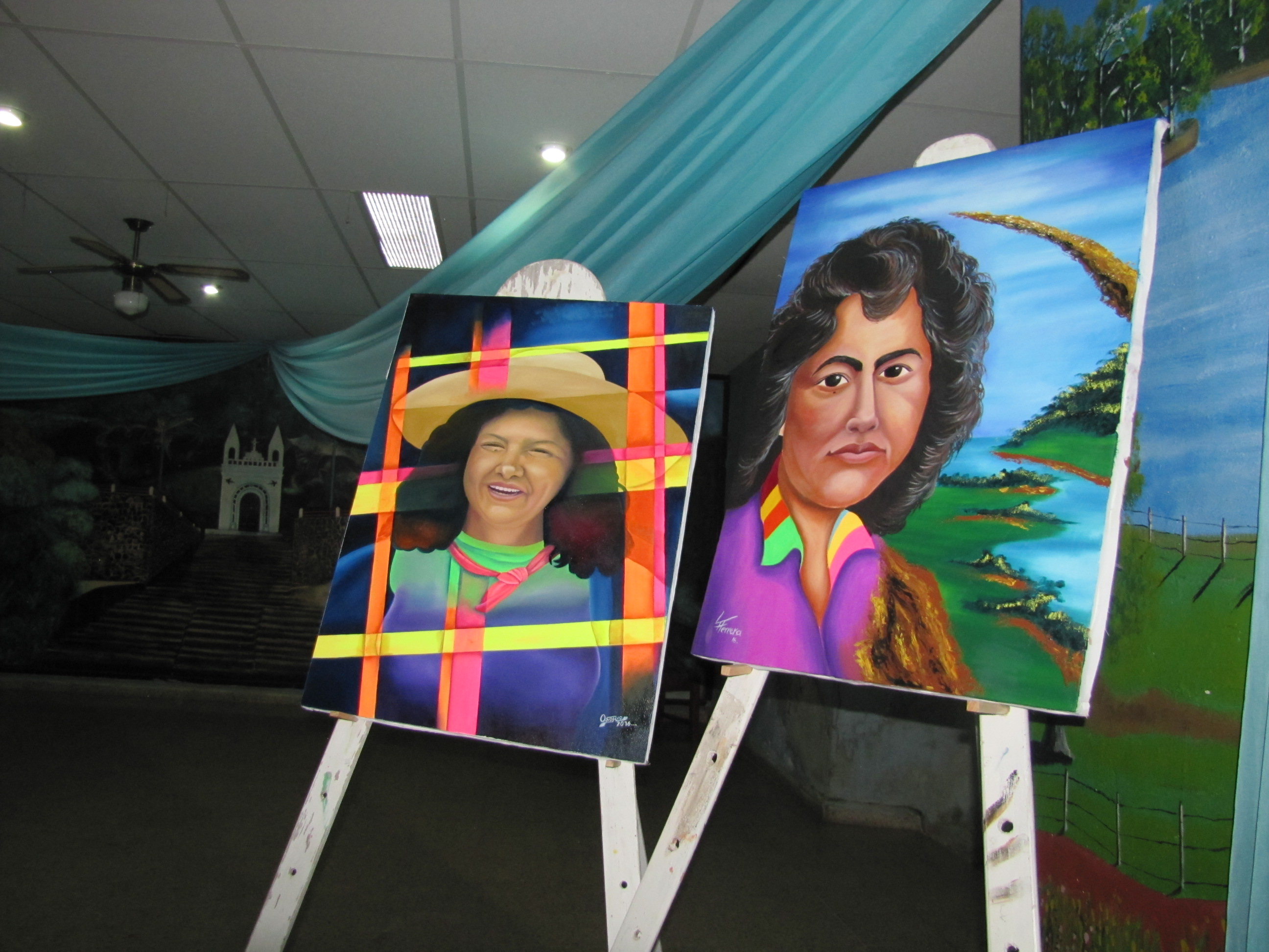 An exhibition of local artwork by joint programmes participants