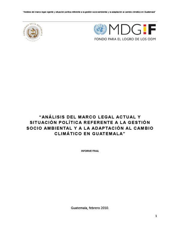 Análisis del marco legal actual y situación política referente a la ...