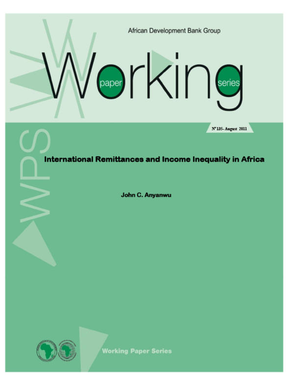 International remittances and income inequality in Africa