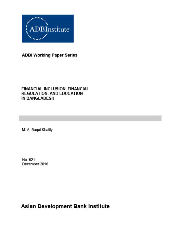 financial inclusion financial regulation and education in