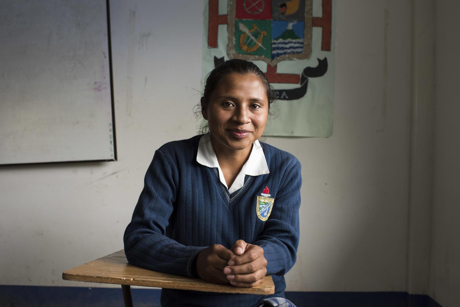 Martha Timana Imbachi, 23 años y estudiante de grado 11. ©Fondo ODS / Freya Morales
