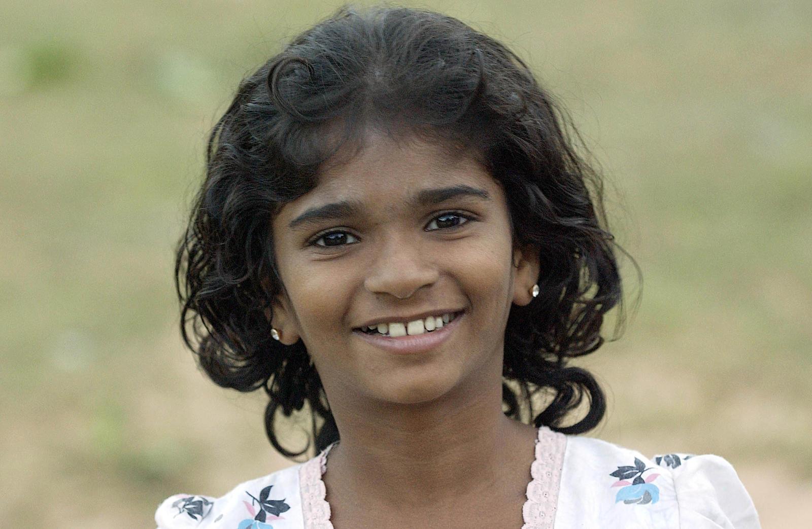Una niña de Sri Lanka.
