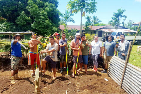 The graduates during their trainings (Photo: Faumuina Felolini Maria Tafuna'i)